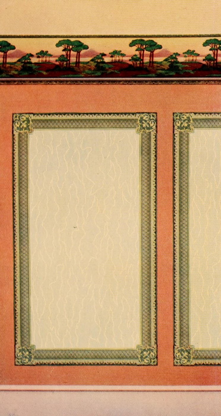 Antique Edwardian wall decor and wallpaper suggestions from 1906 (2)