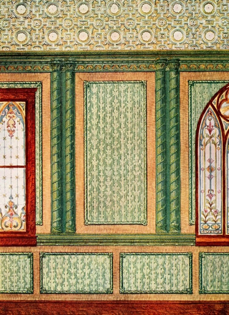 Antique Edwardian wall decor and wallpaper suggestions from 1906 (5)