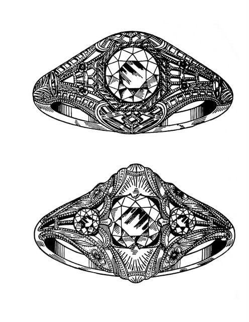 Antique Gemstone Rings from the 1920s 1930s 1940s (2)
