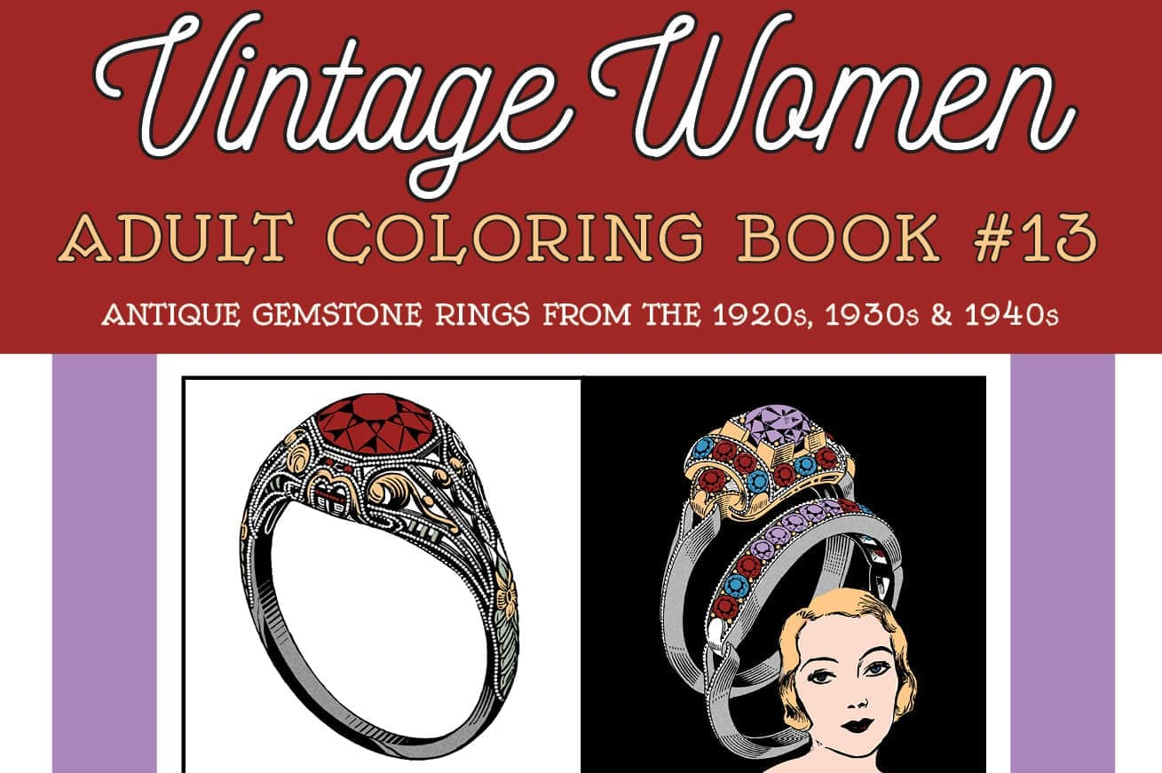 Antique Gemstone Rings from the 1920s, 1930s 1940s