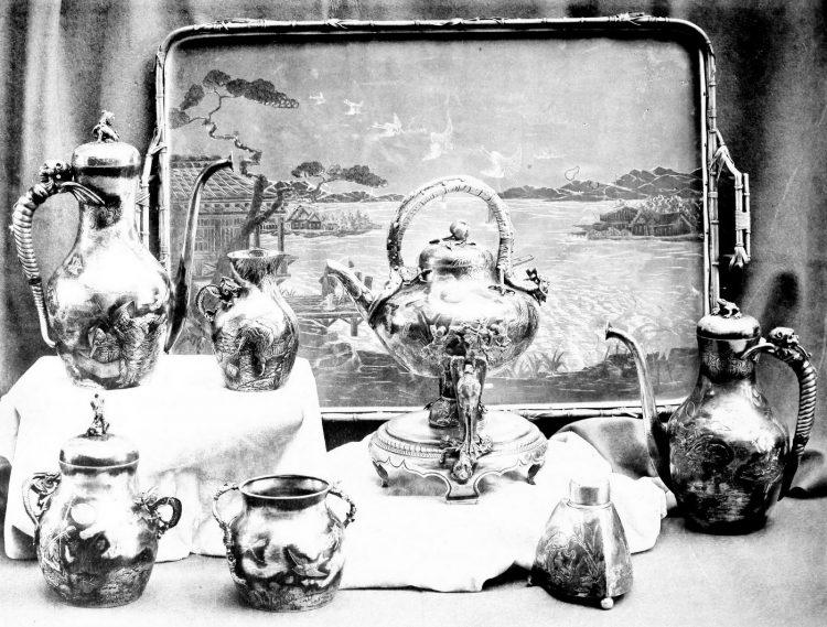 Antique Gorham silver designs from 1889 (2)