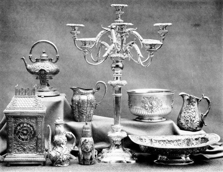 Antique Gorham silver set from 1889