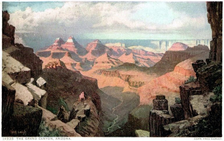 Antique Grand Canyon Arizona postcard