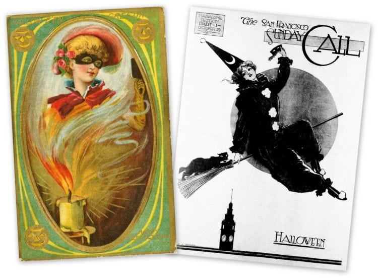 Antique artwork from the history of Halloween