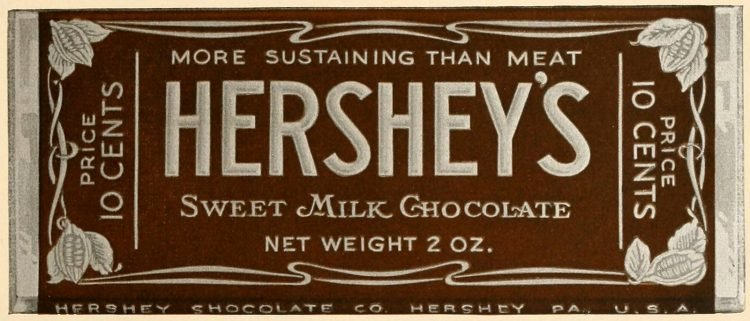Antique Hershey's bar - chocolate candy