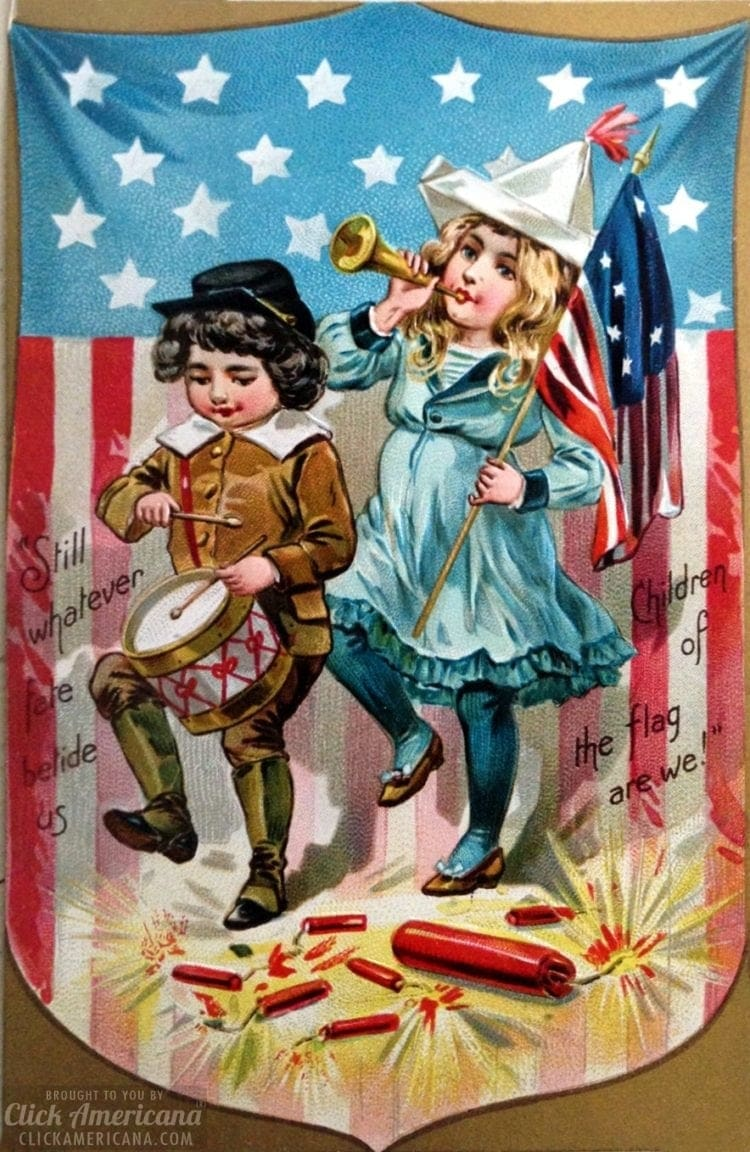 Antique Independence Day 4th of July postcard