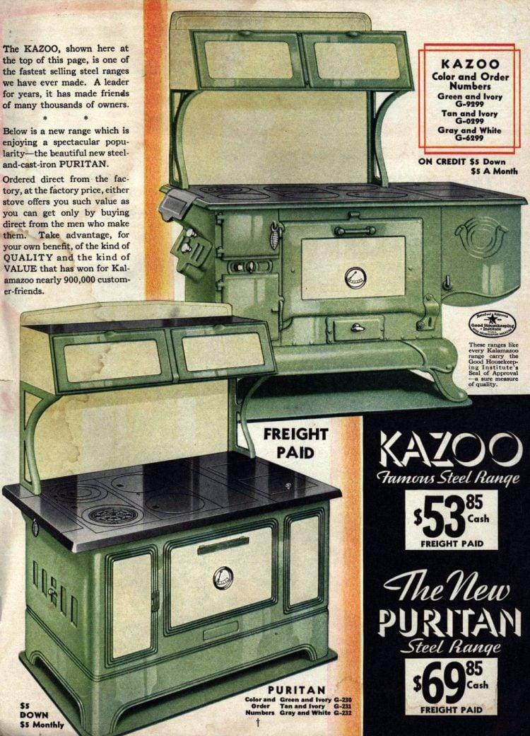 Antique Kalamazoo kitchen stoves from 1936 (1)