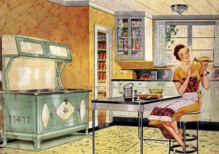 Antique Kalamazoo kitchen stoves from 1936 (2)