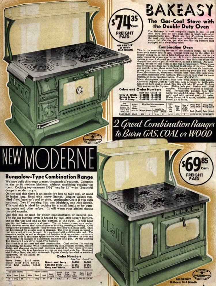 Antique Kalamazoo kitchen stoves from 1936 (3)