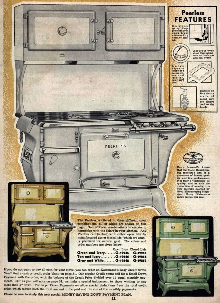 Antique Kalamazoo kitchen stoves from 1936 (5)