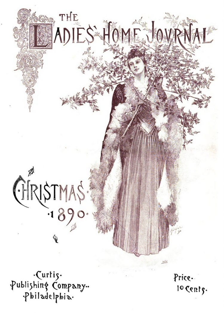 Antique Ladies Home Journal magazine cover from Victorian era - 12-1890