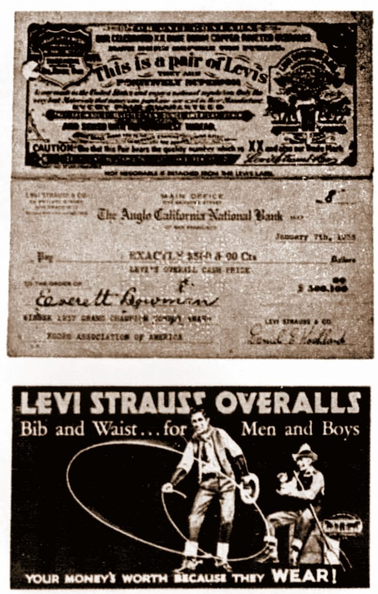 Antique Levi's memorabilia