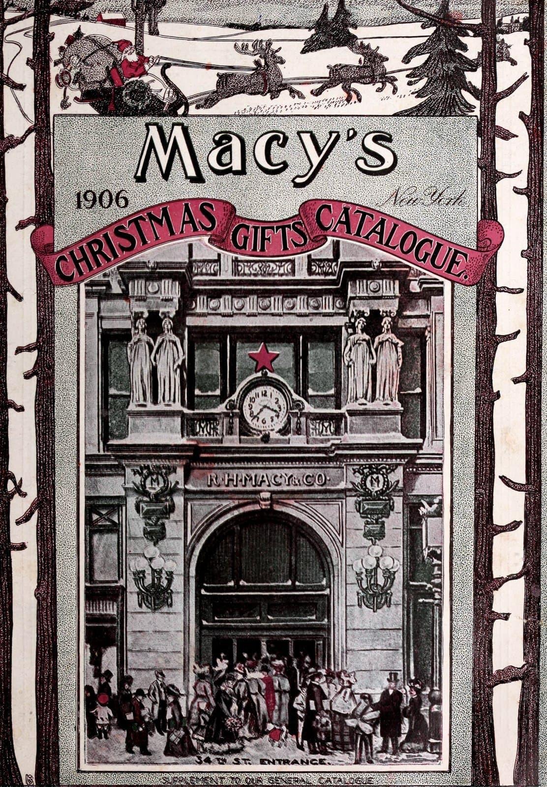 Antique Macy's department store Christmas catalog (1906)