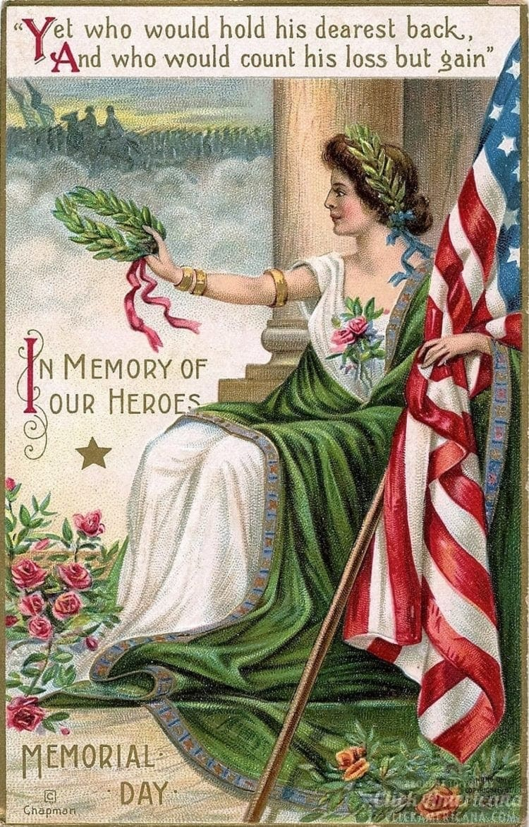 Antique Memorial Day postcard