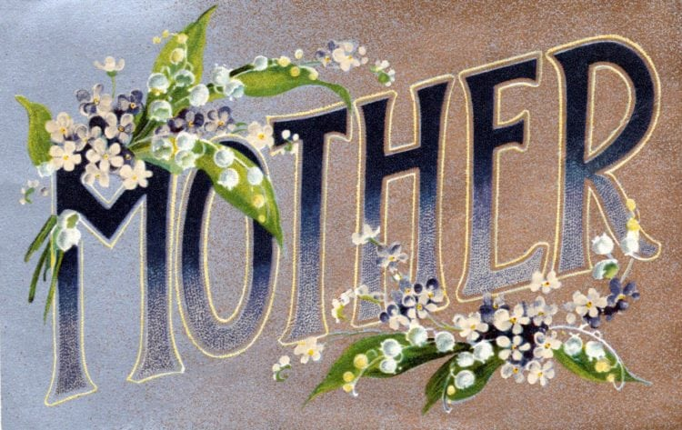 Vintage Mother's Day cards: Mother - Antique postcard