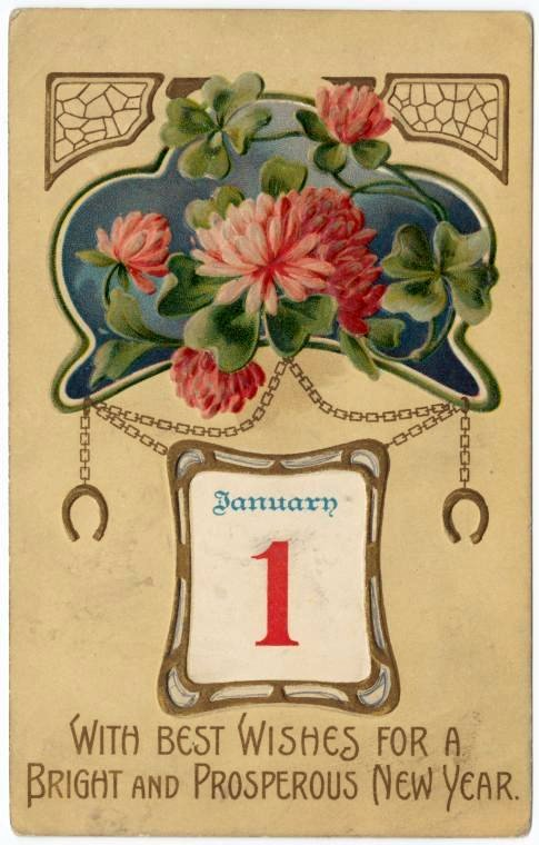 Antique New Year's cards from Click Americana (1)