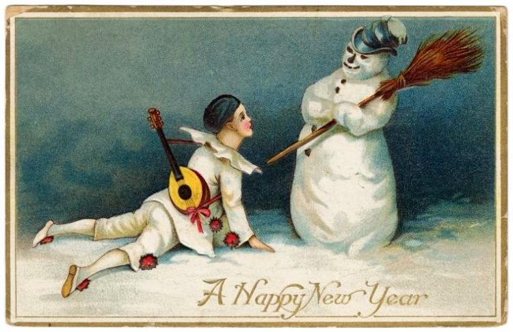 Antique New Year's cards from Click Americana (10)