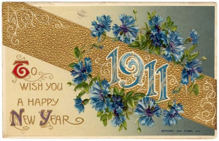 Antique New Year's cards from Click Americana (11)