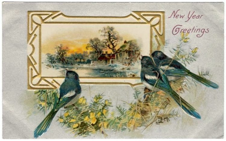 Antique New Year's cards from Click Americana (12)