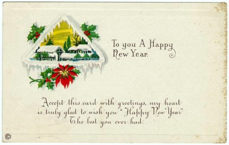 Antique New Year's cards from Click Americana (13)