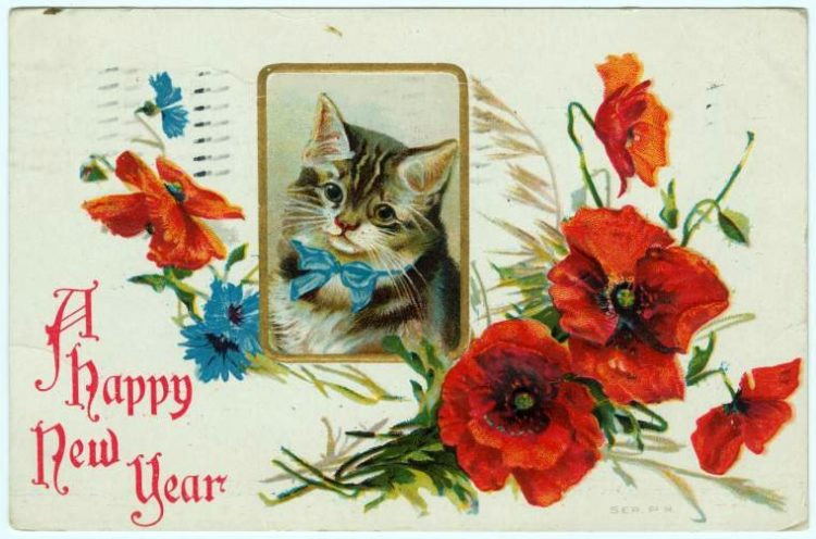 Antique New Year's cards from Click Americana (14)