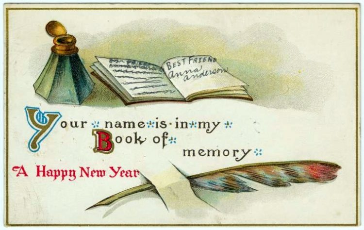 Antique New Year's cards from Click Americana (3)