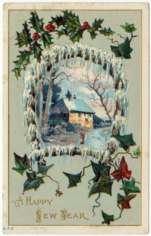 Antique New Year's cards from Click Americana (7)