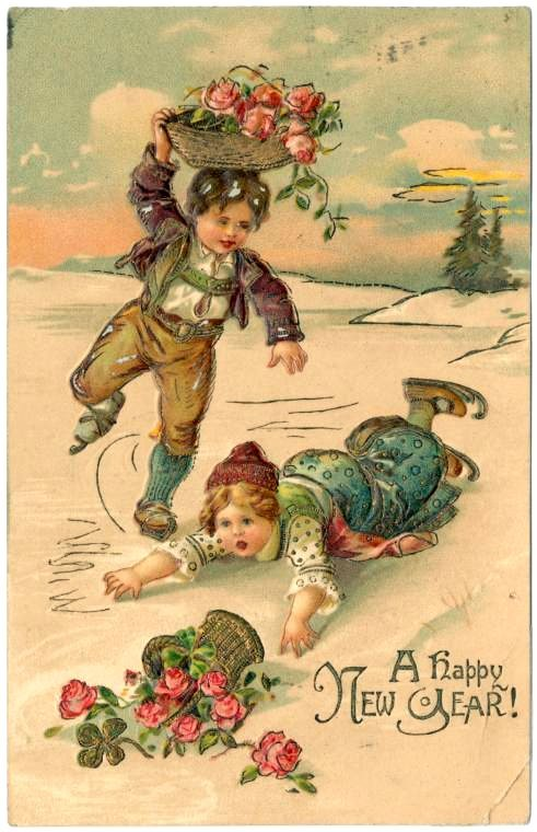 Antique New Year's cards from Click Americana (9)