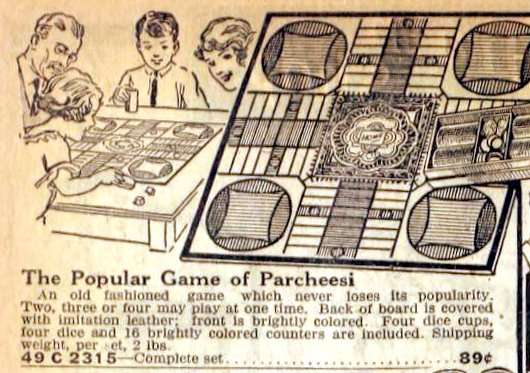Antique Parcheesi board game from 1922