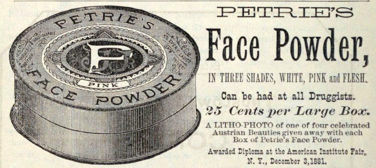 Antique Petrie's Face powder - 1880s