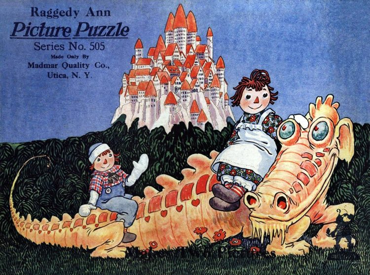 Antique Raggedy Ann and Andy puzzle