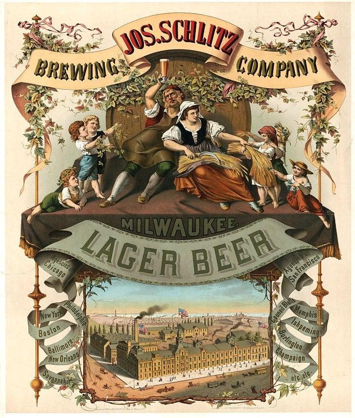 Antique Schlitz lager beer ad (1800s)