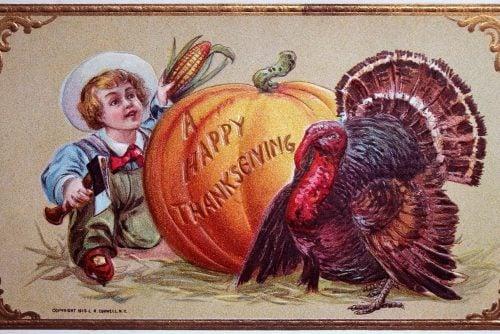 Antique Thanksgiving postcard 1911