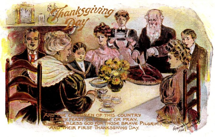 Antique Thanksgiving postcard from 1909