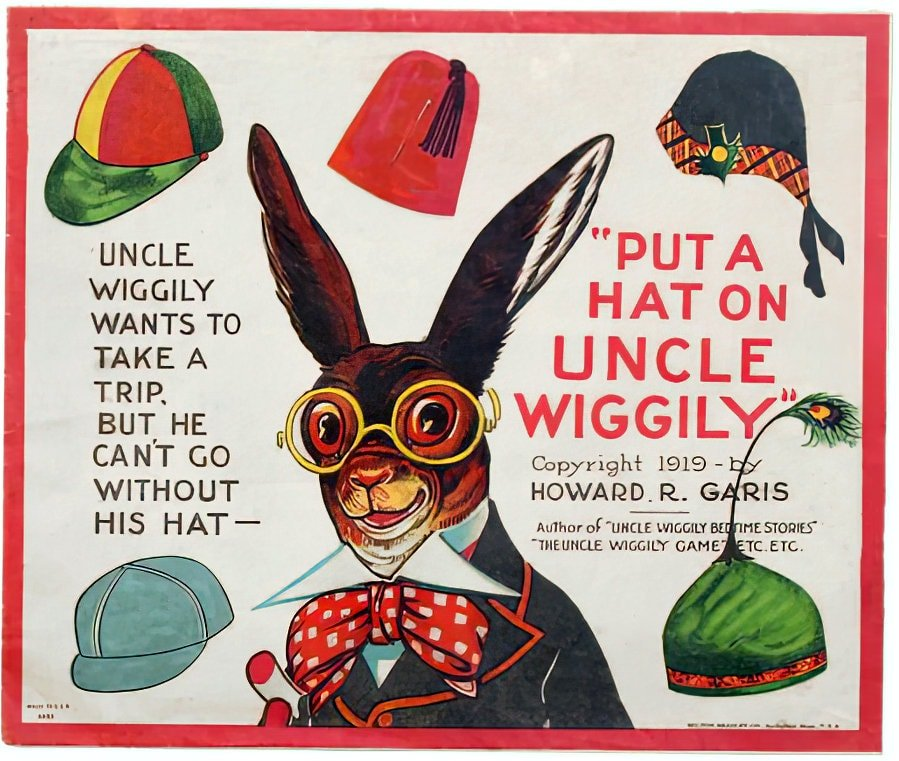 Antique Uncle Wiggily paper doll hat game