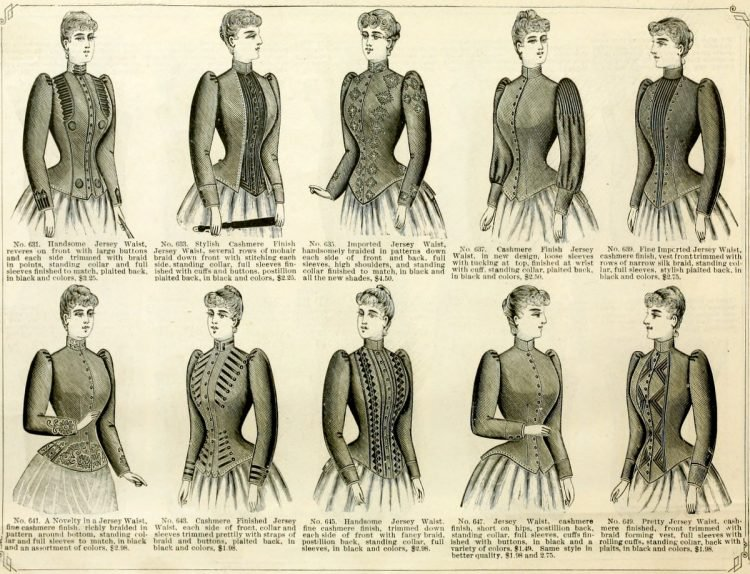 Antique Victorian Jersey Waists - womenswear