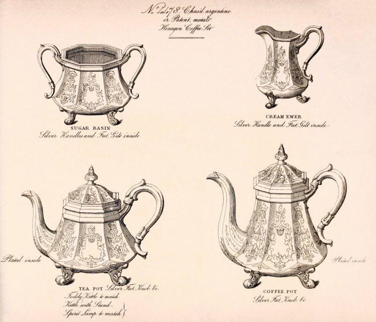 Antique Victorian coffee and tea set