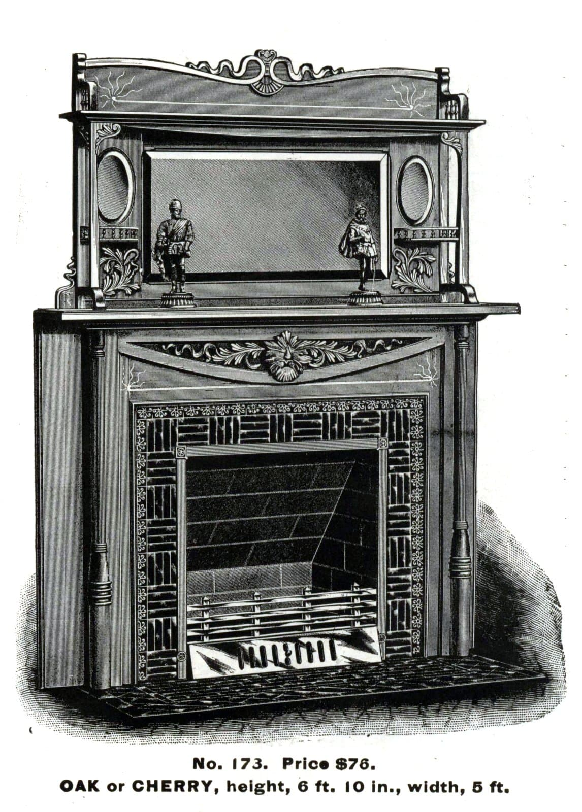 Antique Victorian fireplace surrounds by Morley Bros - 1880s (1)