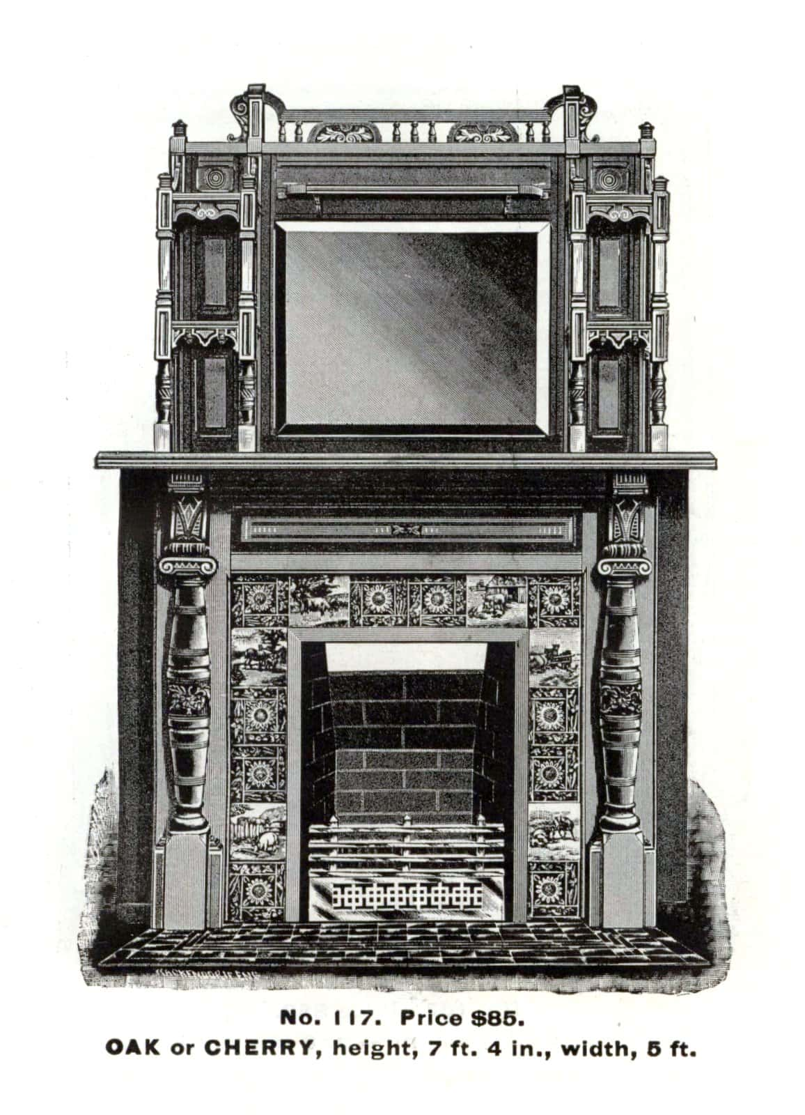 Antique Victorian fireplace surrounds by Morley Bros - 1880s (2)