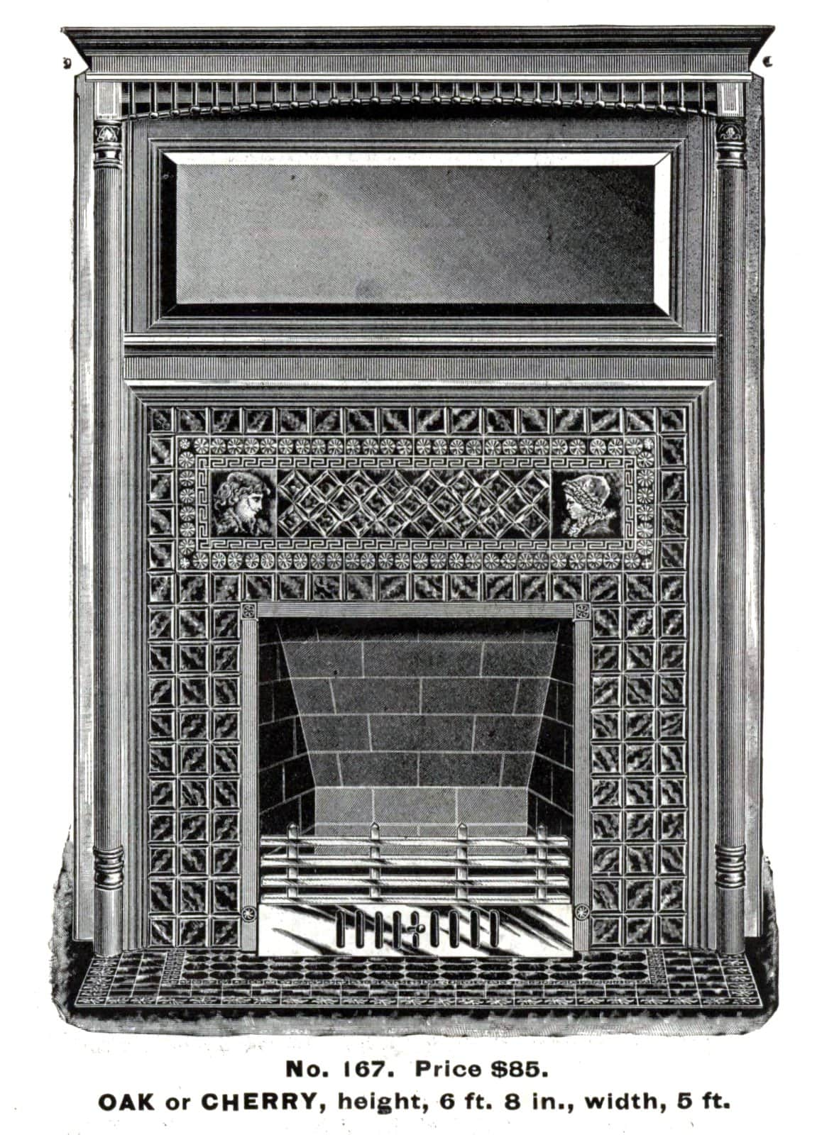 Antique Victorian fireplace surrounds by Morley Bros - 1880s (3)