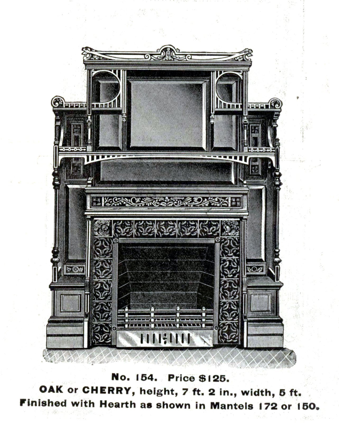 Antique Victorian fireplace surrounds by Morley Bros - 1880s (4)