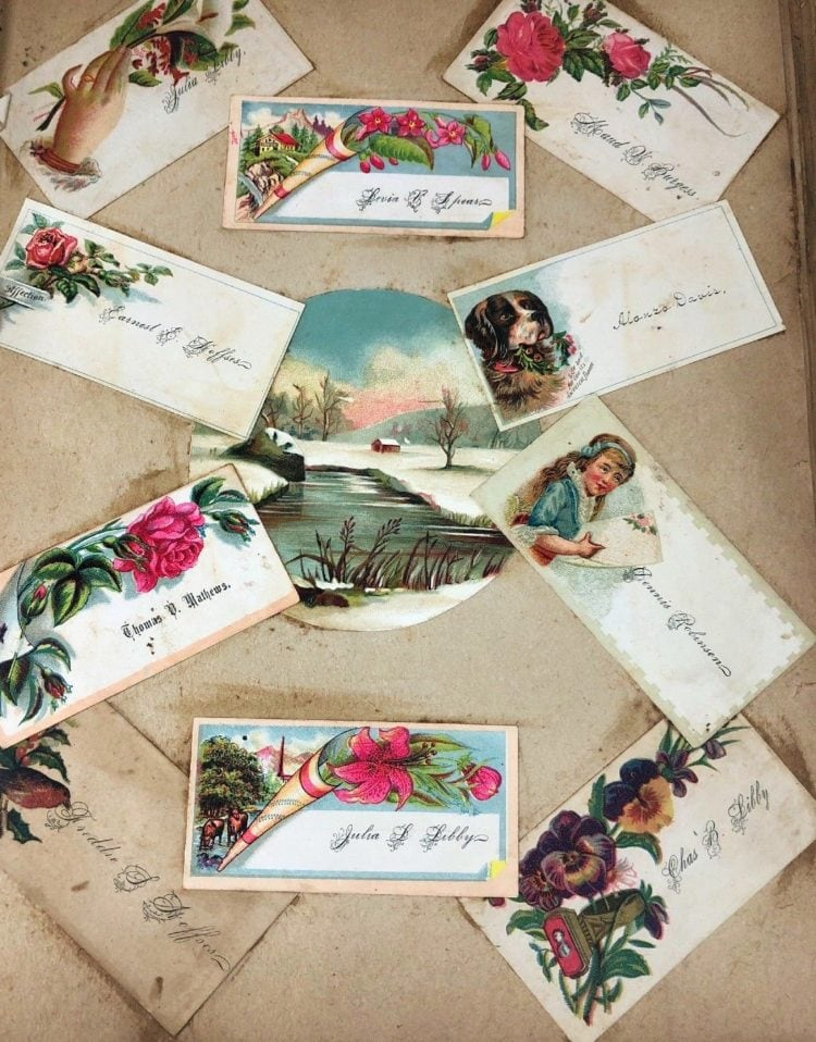 Antique Victorian scrapbook page (1)