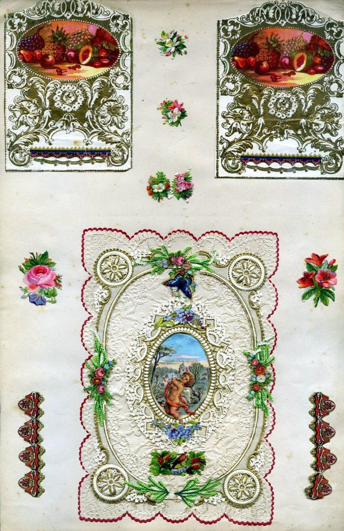 Antique Victorian scrapbook page (2)