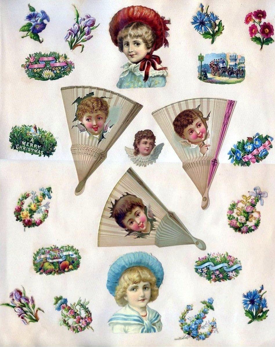 Antique Victorian scrapbook page (3)