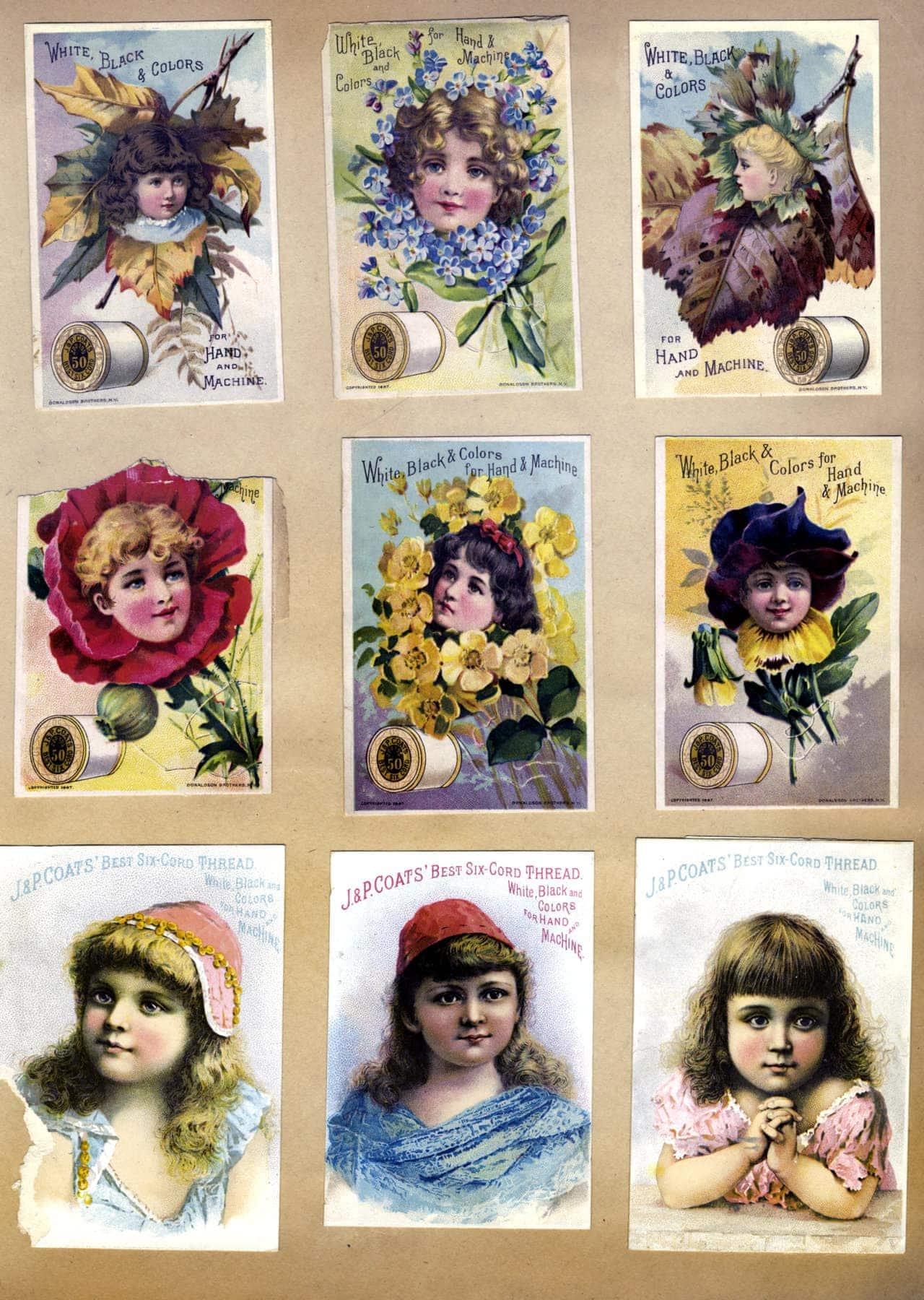 Antique Victorian scrapbook page (4)