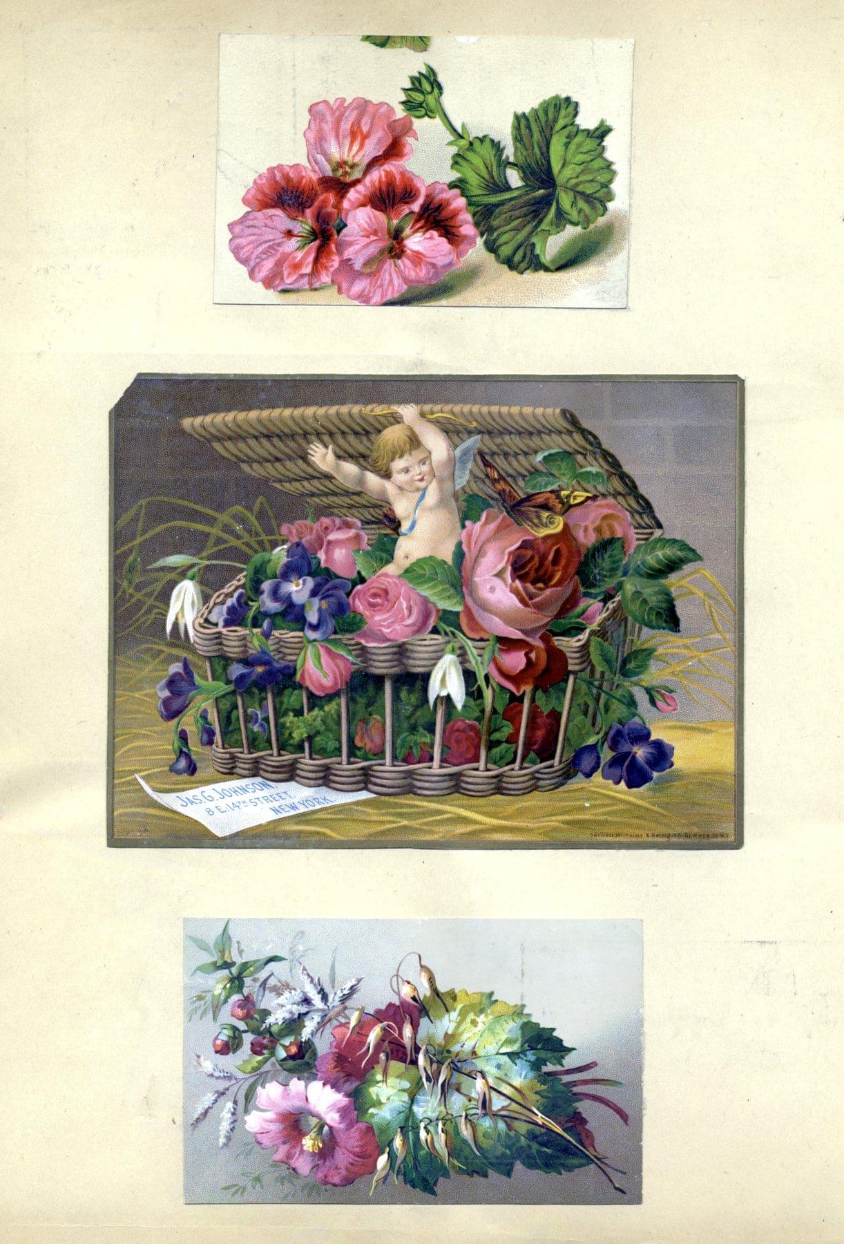 Antique Victorian scrapbook page (5)