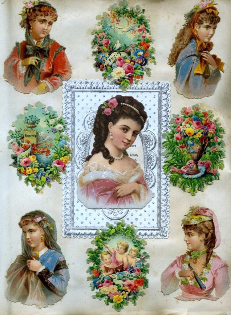 Antique Victorian scrapbook page (6)