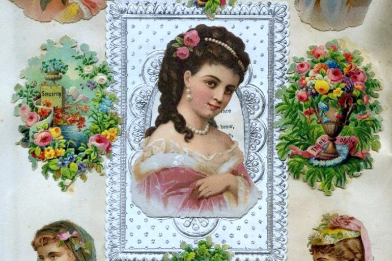 Antique Victorian scrapbook page (6)