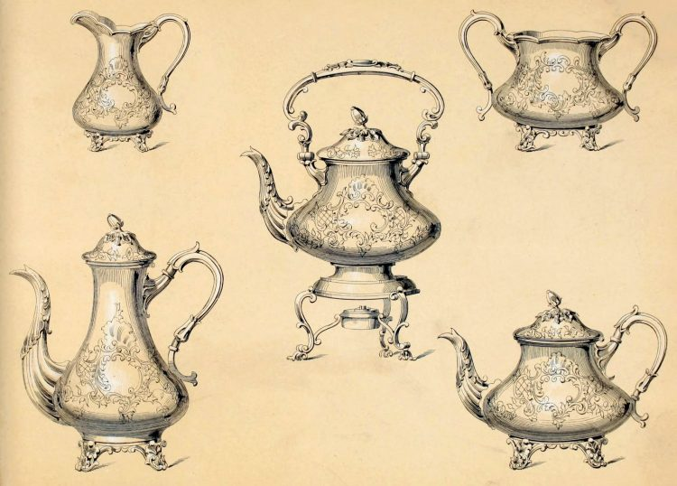 Antique Victorian silver coffee and tea set