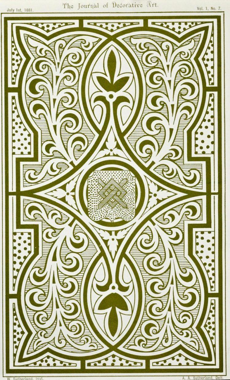 Antique Victorian stencil pattern